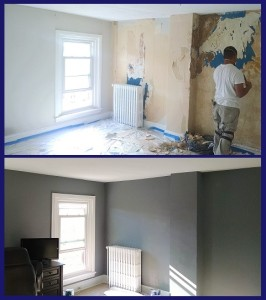 Before and After Conshocken Drywall Install and Painting 2015-11-13 10.17.38 w logo